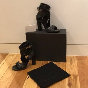 Barbara Bui leather python heels size 40 like new